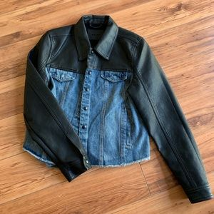 NWOT Women's Blank NYC Denim and Leather Jacket